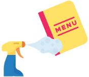 Limpeza do menu
